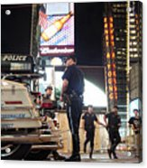 Nypd Times Square Acrylic Print