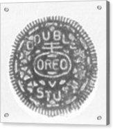 O R E O In Black Negative Acrylic Print