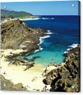 Oahu, Beach Goers Acrylic Print