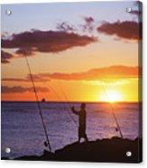 Oahu Fisherman Acrylic Print