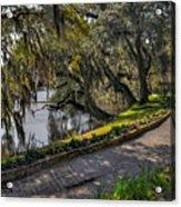 Oak And River Path Acrylic Print