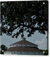 Oak And Round Barn Acrylic Print