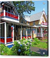 Oak Bluffs Gingerbread Cottages 1 Acrylic Print