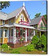 Oak Bluffs Gingerbread Cottages 3 Acrylic Print