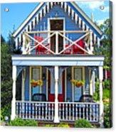Oak Bluffs Gingerbread Cottages 4 Acrylic Print