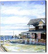Oak Bluffs Winter Acrylic Print by Paul Gardner