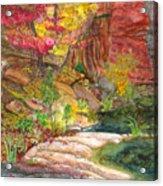Oak Creek West Fork Acrylic Print