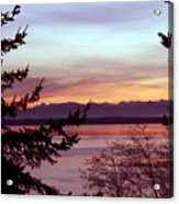 Oak Harbor Sunset 1016 Acrylic Print