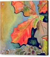 Oak Leaves And Pinecones Acrylic Print