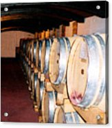 Oak Red Wine Barrels Acrylic Print