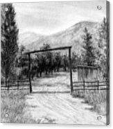 Oakley Ranch Entrance Acrylic Print