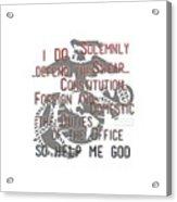 Oath Acrylic Print
