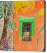 Oaxaca Mexico Church Colors Acrylic Print