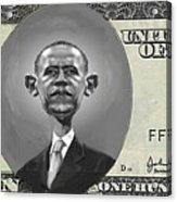 Obama Dollar Acrylic Print