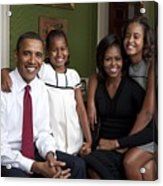 Obama Family Official Portrait By Annie Acrylic Print