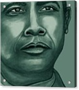 Obama In Bronze Acrylic Print