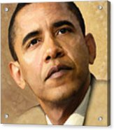 Obama Acrylic Print by Joel Payne