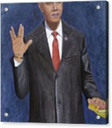 Obama Taking The Oath Of Office Acrylic Print by TC North