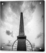 Obelisk And Big Wheel At Place De La Concorde, Paris Acrylic Print