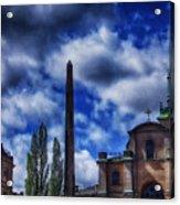 Obelisk In Gamla Stan Acrylic Print