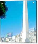 Obelisk On July Nine Avenue In Buenos Aires-argentina Acrylic Print