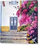 Obidos And Bougainvilla Acrylic Print