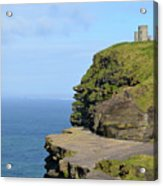 O'brien's Tower Along The Cliff's Of Moher In Ireland Acrylic Print