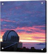 Observatory Sunset Acrylic Print