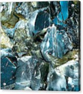 Obsidian In Newberry National Volcanic Monument, Oregon  Acrylic Print