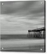 Ocean City Pier 1 Bw Acrylic Print