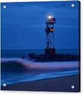 Ocean City Dawn Surf Acrylic Print