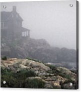 Ocean Avenue House In Fog Acrylic Print