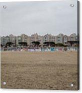 Ocean Beach Houses Acrylic Print