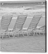 Ocean Chairs Acrylic Print