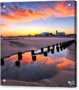 Ocean City Afterglow Acrylic Print