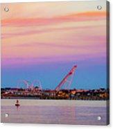 Ocean City Skyline Acrylic Print
