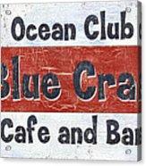 Ocean Club Cafe Acrylic Print