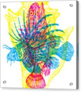Ocean Creatures Acrylic Print