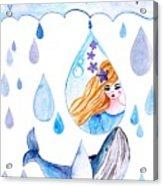 Ocean Girl Acrylic Print