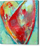 Ocean Heart Acrylic Print
