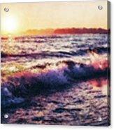 Ocean Landscape Sunrise Acrylic Print