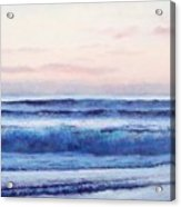 Ocean Painting 'dusk' By Jan Matson Acrylic Print