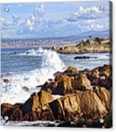 Ocean Spray In Monterey Acrylic Print