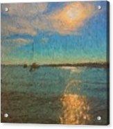 Ocean Sun Path At Boothbay Harbor Acrylic Print