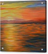 Ocean Sunrise- Oil Painting- Abstract Art Acrylic Print