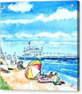 Ocean View Beach Acrylic Print