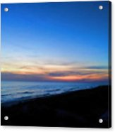 Ocean View Of Sunset On The Beach At Cape San Blas, Florida Acrylic Print
