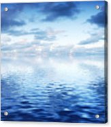 Ocean With Calm Waves Background With Dramatic Sky Acrylic Print