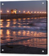 Oceanside Pier In The Mist Acrylic Print