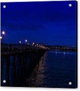 Oceanside Pier Night Image Acrylic Print
